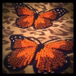 🦋🦋VTG Hand-Beaded Butterfly Bag🦋🦋